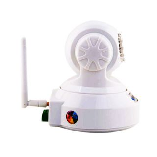 Wireless IP Camera WiFi LED Pan Tilt IP Webcam Nightvision Security System White