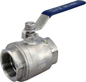 "2 x 1 1 4"" Full Port Ball Valve Stainless Steel SS304 SUS304 NPT WOG1000 1 25"""