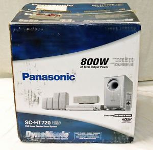 Panasonic SC HT720 DVD Home Theater System 5 1 Channel 800W Dynamovie Open Box