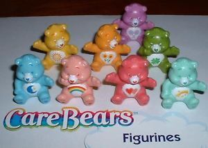 Care Bear Figure Cake Topper Decorations Set of 8