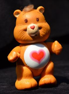 "Loose Vintage Kenner Tenderheart 1983 Care Bear 3"" Poseable Action Figure Only"