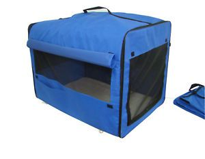 Dog Cat Pet Bed House Soft Carrier Crate Cage w Case Su
