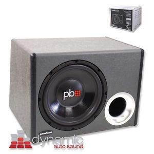 "PowerBass PS WB110 Loaded Subwoofer Enclosure with A Single 10"" Sub 500W New"