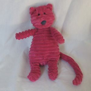 "Jellycat 9"" Pink Cordy Roy Plush Velour Cat Kitten Stuffed Animal Toy Lovey"