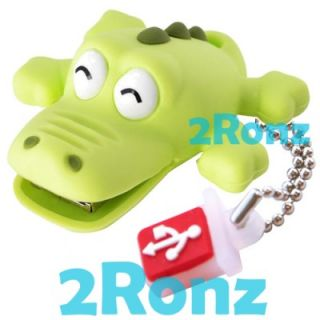 TDK Croco 8GB 8g USB Flash Drive Disk Memory Stick Rubber Crocodile Glow in Dark