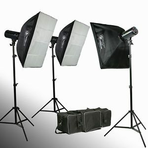 900W Strobe Studio Flash Light Kit Lighting Photography