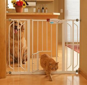 Wide Gate Pet Door Cat Dog Safety Fence Baby Child Gates Supplies Portable Puppy