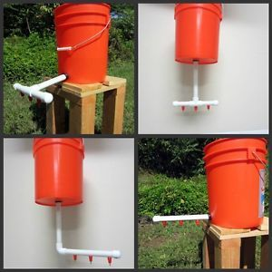 Automatic Chicken Duck Bird Poultry Waterer Watering Drinker Drinking System