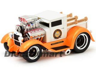 Maisto Muscle Machines 1 18 1929 Ford Model AA New Diecast Model Car Wht Orng
