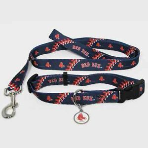 New Boston Red Sox Pet Set Dog Collar Leash ID Tag All Sizes