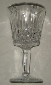 Cut Glass Crystal Set of 6 Glasses 3 Wine Glasses 3 Water Goblets