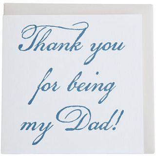thank you for being my dad/stepdad fathers day greetings card by