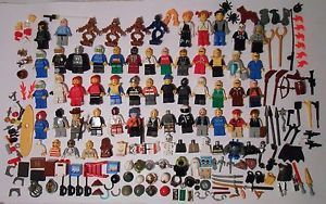 Large Lot of Lego Minifigures Parts Accessories Weapons Star Wars TMNT