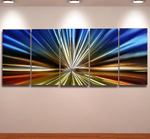 Metal Modern Abstract Wall Art Painting Large Panel Original Decor Contemporary