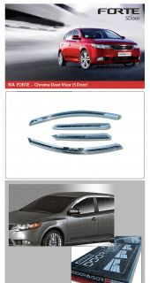 New Chrome Window Vent Shades Visors Rain Guards for Kia Forte 2010 2012 5DOOR