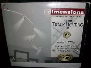 New Hampton Bay Flexible Track Lighting Kit 5 Fixture Heads Brushed Steel Finish
