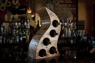 reclaimed table top wooden wine rack by second life