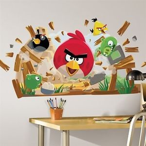 Angry Birds Giant Wall Decals Kids Room Decor Stickers Game Mural Decorations