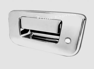 2007 2013 Chevy Silverado GMC Sierra Chrome Tailgate Handle Cover w Keyhole