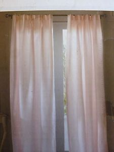 Simply Shabby Chic Pink Pinch Pleat Lined Window Curtain Panels Pair