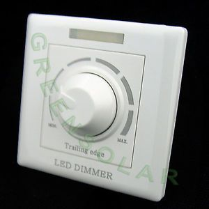 220V AC 150W LED Wall Mount Dimmer with Remote Control 86mm for LED Lamp Light