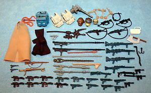 Vintage 1970's Star Wars Action Figures Weapons Guns Accessories Parts Lot