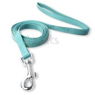 "8 12"" Blue Nylon Dog Collar 4ft Matching Leash Durable XS Small"
