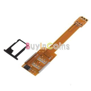 Brand New Dual Sim Card Adapter Converter for Apple iPhone 5 5th Gen Five