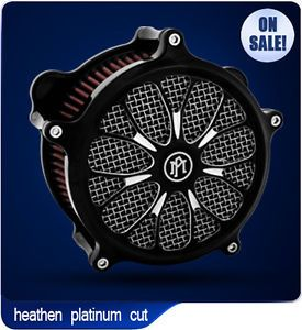 Performance Machine Heathen Platinum Cut Harley Davidson Air Cleaner PM