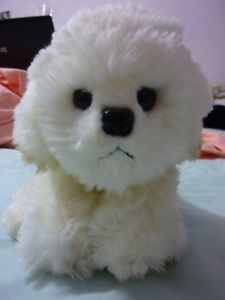 "New 8"" Russ White Bichon Frise Shaggy Muffin Puppy Dog Plush Stuffed Toy 23218"