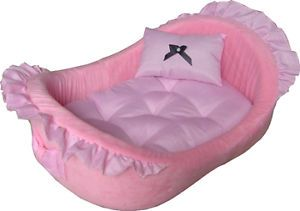 Pampered Pink Princess Deluxe Dog Cat Pet Bed 2013 Pink