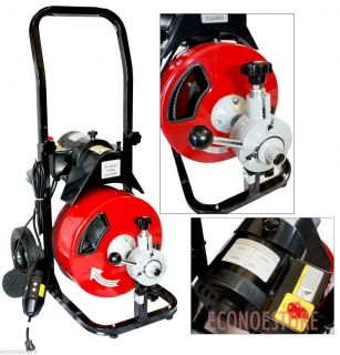 Commercial 50ft Electric Drain Auger Snake Cleaner Plumbing Machine w 50' Cable