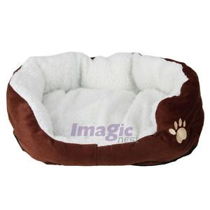 New Cotton Pet Dog Cat Soft Fleece Warm Bed House Waterloo Size s Coffee