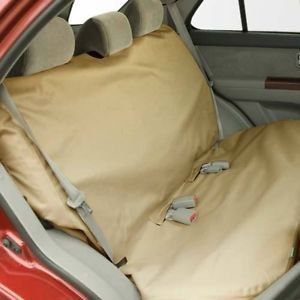 Bergan Mid Full Size Dog Pet Car Truck SUV Rear Bench Seat Cover Protector Tan
