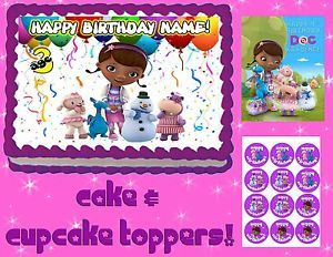 Doc McStuffins Edible Cake Cupcakes Toppers Image Picture Sugar Tops Decorations
