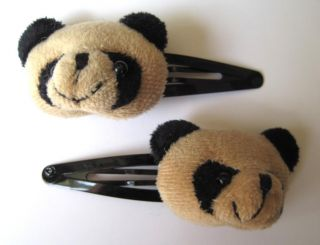 Brown Bear Hair Clip Slide Kawaii Cosplay Indie Grunge Cute Girls Kids