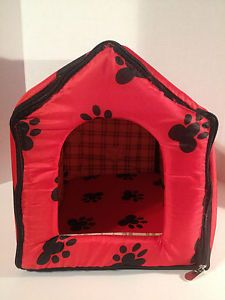 Medium Indoor Pets Dogs Cats Cute Collapsible Soft Bed House Portable Dog House
