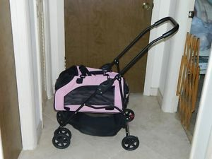 Pet Gear Pink Dog Cat Carrier Stroller Car Seat