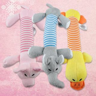 Pets Dog Puppy Chew Squeaker Squeaky Plush Sound Pig Elephant Duck Animal Toy