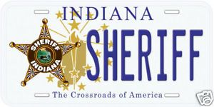 Indiana Sheriff Aluminum Novelty Car License Plate