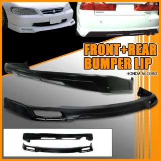 98 99 00 Honda Accord Sedan Front Rear Bumper Lip Spoiler