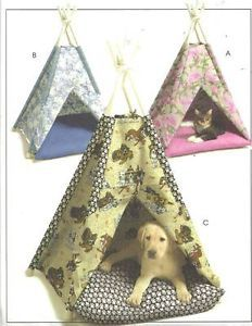 McCall's Crafts 5412 Animal Tents Teepee Dog Cat Bed House Sewing Pattern