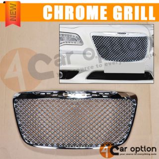 2011 2012 Chrysler 300 300C Bentley Style Chrome Front Grill Grille