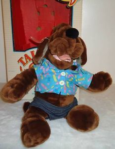 Puppet 1986 Talking Wrinkles Dog Plush Stuffed Toy