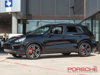 New 2014 Porsche Cayenne Turbo s Black Nav Bose Panorama LCA Adaptive Cruise