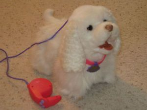 Fur Real Friends GoGo My Walking Pup FurReal White Toy Puppy Dog w Leash