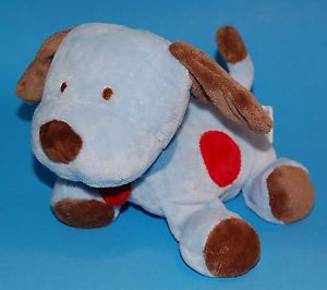 Carters Child of Mine Blue Brown Puppy Dog Plush Red Spots Lovey Baby Toy