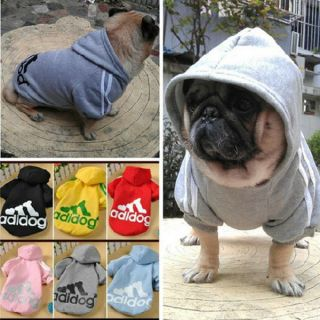 For Dog Cat Puppy Pet Clothing Warm Coat Apparel Hoodies Adidog Sweater T Shirt