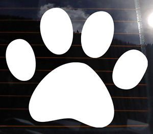 "Dog Paw Vinyl Decal 12x10"" Track Print Car Wall Sticker Pet Puppy Love Paws K080"