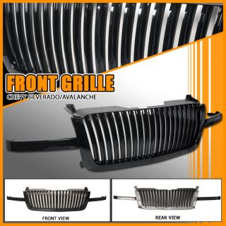 03 06 Chevy Silverado Avalanche Vertical Black Hood Grill Grille